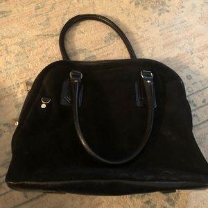 Halston Black Suede Handbag 👜
